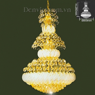 Đèn Chùm Pha Lê Cao Cấp Gắn Trần Nhà Phòng Khách | Đèn Trang Trí, Đèn Led - Đèn Việt