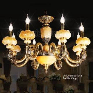 Đèn chùm đồng bóng nến cao cấp chao đèn hình hoa sen | Đèn Trang Trí, Đèn Led - Đèn Việt