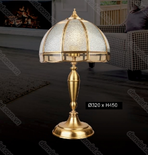 Đèn ngủ để bàn đồng sang trọng HDB002