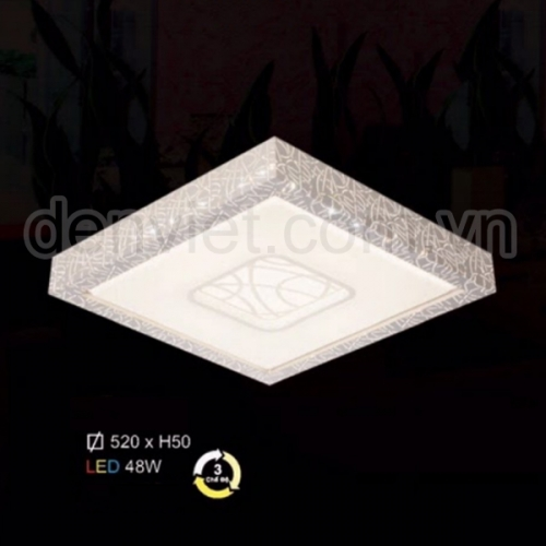 Đèn áp trần hiện đại Led 3 chế độ trang trí phòng ngủ HMLV2