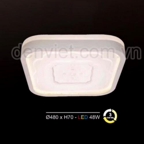 Đèn mâm áp trần hiện đại Led 3 chế độ HMLC1