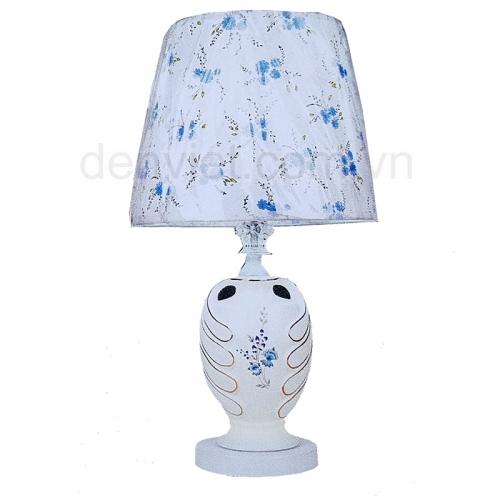 Đèn ngủ để bàn vải họa tiết hoa tinh tế