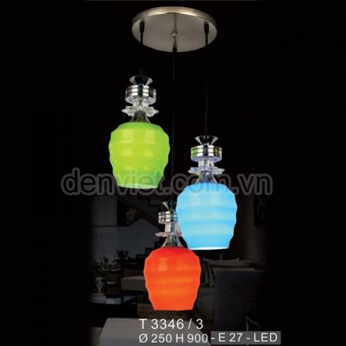 Đèn thả thủy tinh BT3346/3 trang trí bàn ăn cực đẹp