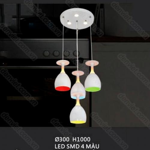 Đèn thả bàn ăn thiết kế hình ly rượu trang trí quầy Bar QTL7567/4