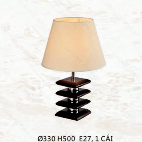 Đèn bàn gỗ cao cấp chụp dù sang trọng QDB7601