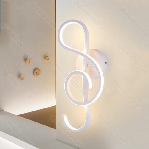 Đèn tường LED hình nốt nhạc HVY6888 trang trí phòng khách