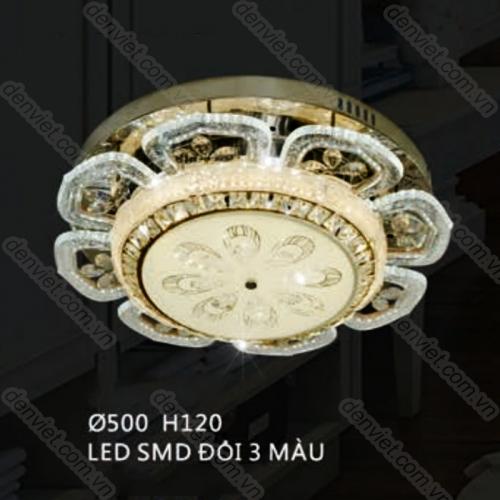 Đèn mâm áp trần hiện đại trang trí phòng khách đẹp giá rẻ QML7515