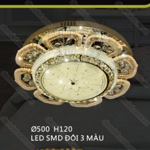 Đèn mâm áp trần LED hiện đại hình bông hoa trang trí phòng khách QML7516
