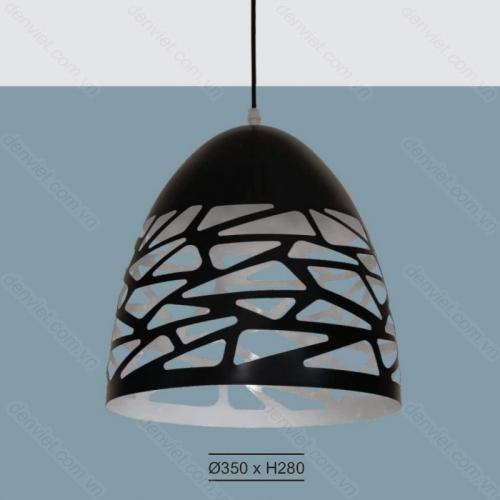 Đèn thả thiết kế đơn giản trang trí bàn ăn hiện đại