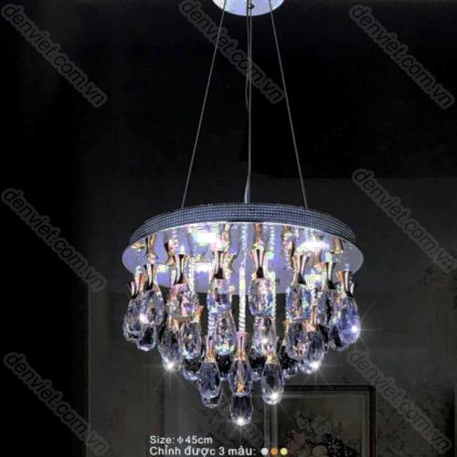 Đèn chùm thả pha lê cao cấp trang trí bàn ăn hiện đại