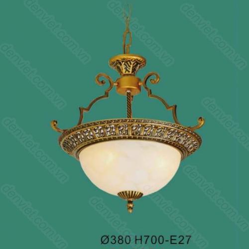 Đèn thả chảo đá cổ điển trang trí hành lang