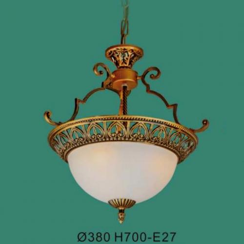 Đèn thả chảo đá cổ điển cao cấp trang trí bàn ăn