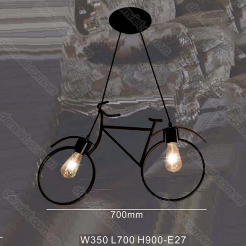 Đèn thả nghệ thuật hình chiếc xe đạp