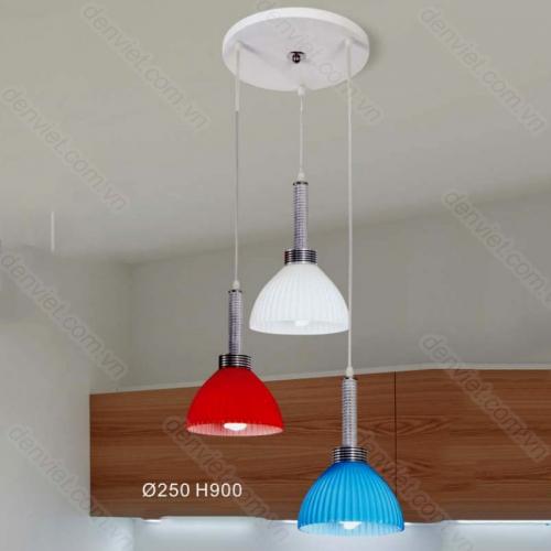 Đèn thả thủy tinh giá rẻ trang trí bàn ăn
