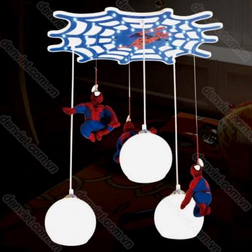 Đèn thả trẻ em hình người nhện trang trí phòng bé trai
