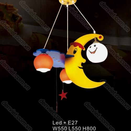 Đèn thả trẻ em hình mặt trăng và ngôi sao
