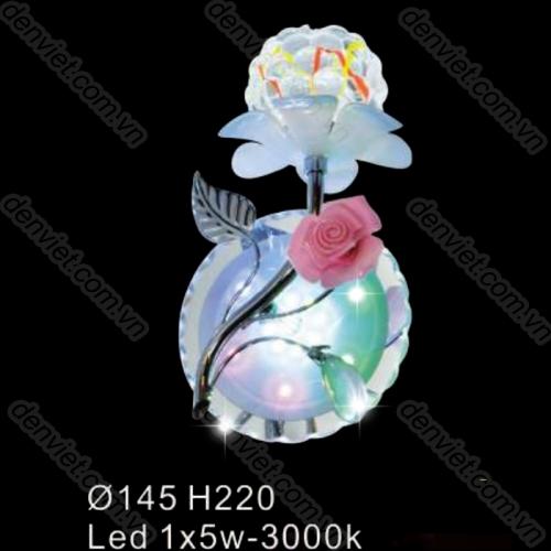 Đèn tường pha lê hình bông hoa hiện đại BV6494