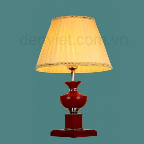 Đèn ngủ để bàn gỗ cao cấp trang trí phòng ngủ sang trọng