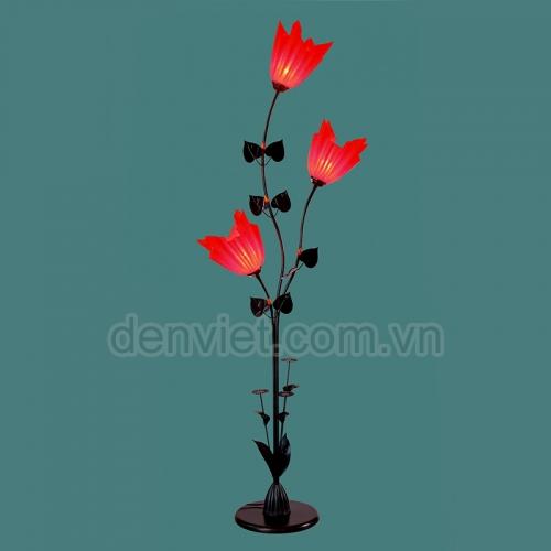 Đèn sàn trang trí phòng khách hình bông hoa
