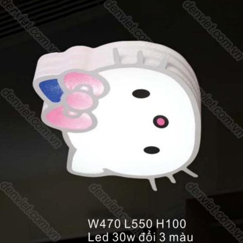 Đèn ốp trần trần LED hình mèo hellokity trang trí phòng ngủ bé gái