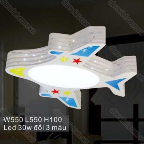 Đèn ốp trần LED cao cấp hình máy bay trang trí phòng ngủ bé trai