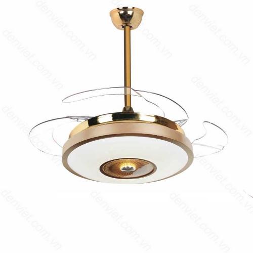 Quạt trần đèn cao cấp thiết kế đơn giản trang trí phòng khách