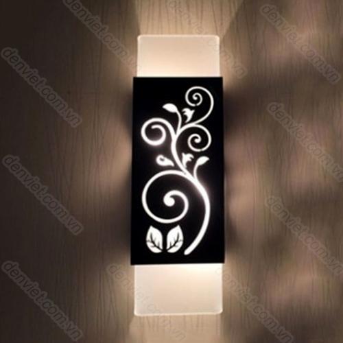 Đèn tường giá rẻ họa tiết hoa cỏ trang trí phòng ngủ