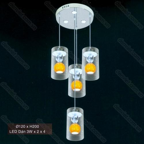 Đèn thả thủy tinh cao cấp AT6101/3+1