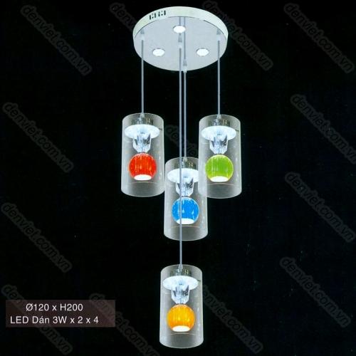 Đèn thả thủy tinh cao cấp AT6103/3+1