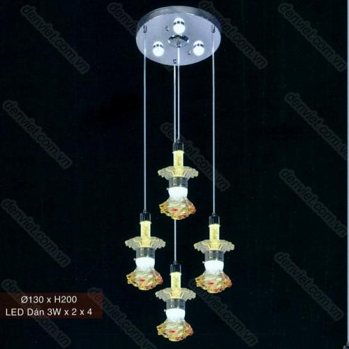 Đèn thả pha lê LED cao cấp hình bông hoa