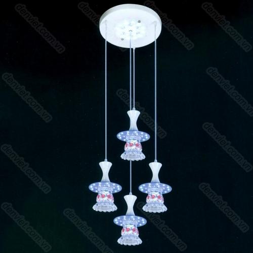 Đèn thả pha lê LED nổi bật trang trí bàn ăn AT6107/3+1