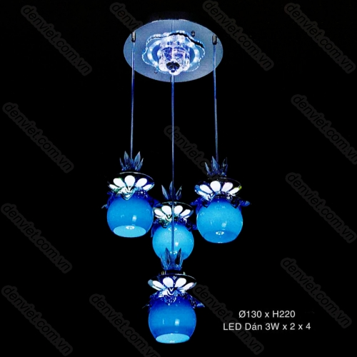 Đèn thả thủy tinh cao cấp trang trí phòng bếp AT6106/3+1