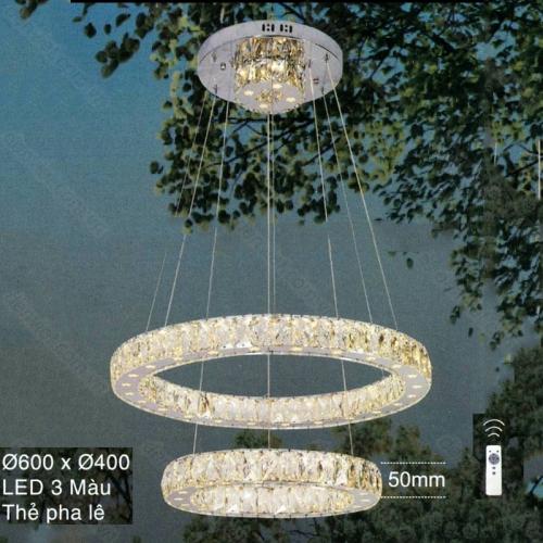 Đèn chùm thả LED pha lê cao cấp trang trí nội thất sang trọng