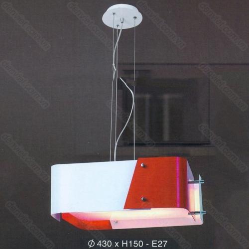 Đèn thả bàn ăn cao cấp thiết kế hiện đại màu đỏ nổi bật
