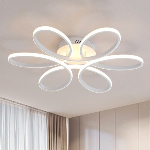 Đèn chùm LED hiện đại phong cách Hàn Quốc trang trí phòng khách