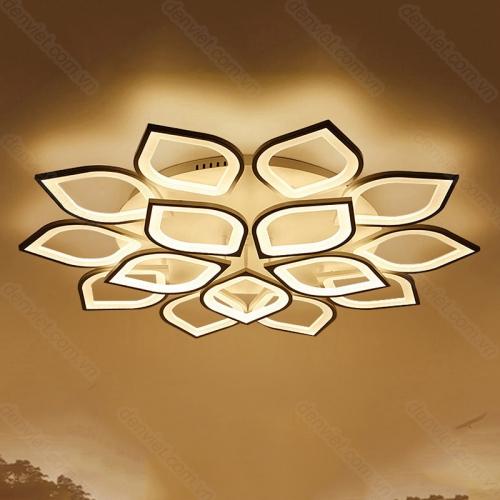 Đèn chùm hiện đại chip LED cao cấp trang trí phòng khách sang trọng