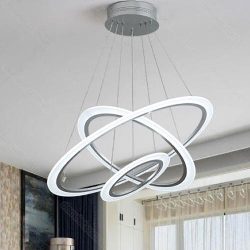 Đèn chùm hiện đại LED 3 chế độ trang trí phòng khách cao cấp