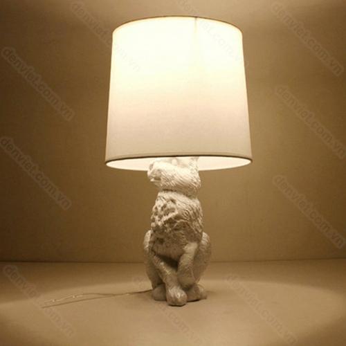 Đèn để bàn hình con thỏ trang trí bàn làm việc sang trọng