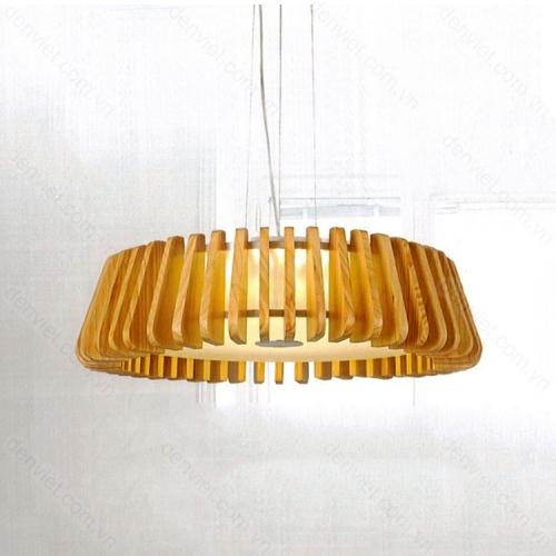 Đèn thả gỗ cao cấp thiết kế hiện đại trang trí phòng khách