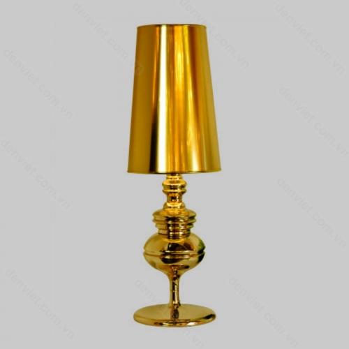 Đèn để bàn màu vàng sang trọng trang trí phòng khách