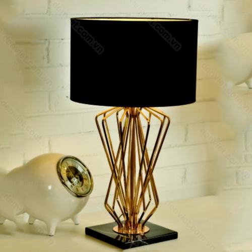 Đèn bàn inox hiện đại trang trí phòng khách cao cấp