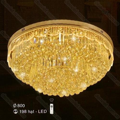 Đèn chùm LED pha lê cao cấp trang trí phòng khách sang trọng