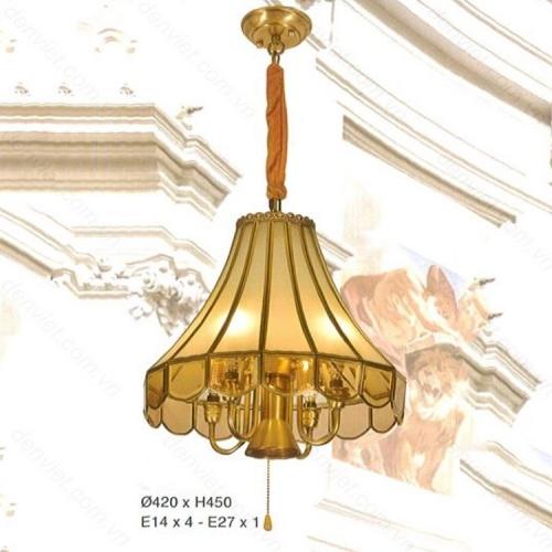 Đèn thả đồng nguyên chất trang trí nội thất cực đẹp