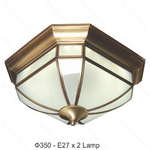 Đèn áp trần đồng cao cấp trang trí nội thất sang trọng