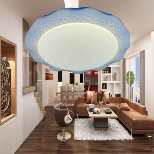 Đèn áp trần Led 3 màu , kiểu dáng họa tiết độc đáo , trang trí phòng khách , phòng ngủ ML1340