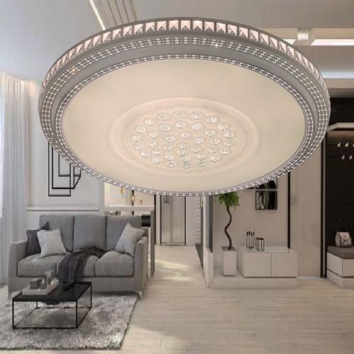 Đèn áp trần Led mâm tròn 46W sáng 3 màu , thiết kế đơn giản,trang trí phòng khách D800