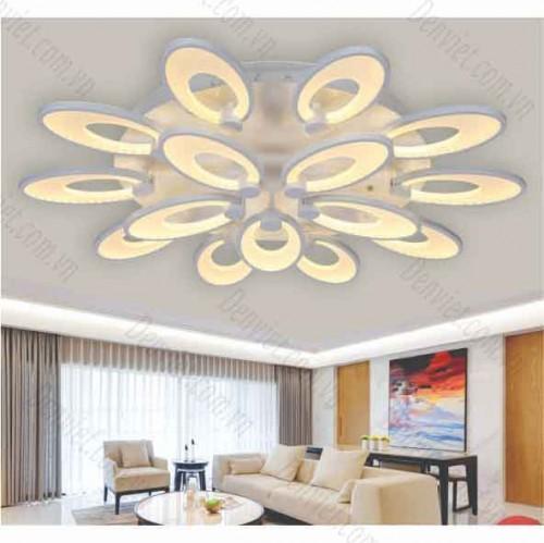 Đèn áp trần LED nghệ thuật bông hoa hai tầng MT1047/10+5