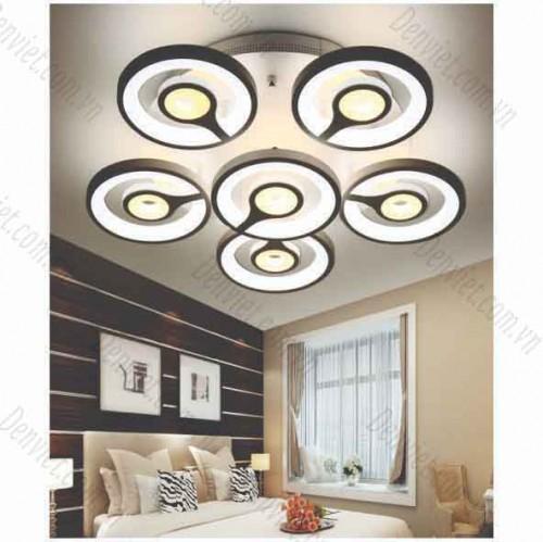 Đèn Ap trần LED nghệ thuật giá rẻ 5+1 cánh viền tròn YMT1068/6