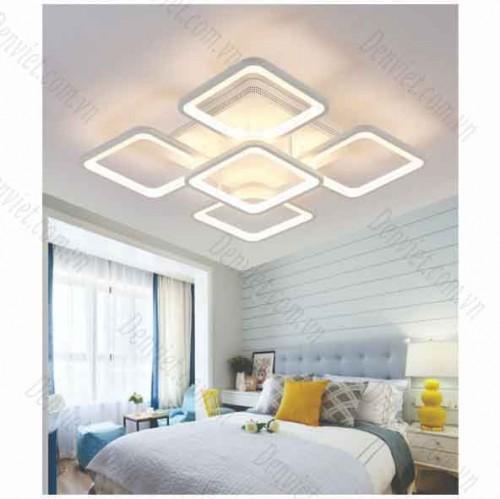 Đèn áp trần LED nghệ thuật hình bông hoa cánh vuôngx5 YMT1089/4+1