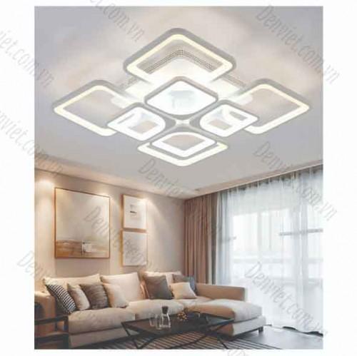Đèn áp trần LED nghệ thuật hình bông hoa cánh vuôngx8 YMT1090/4+4